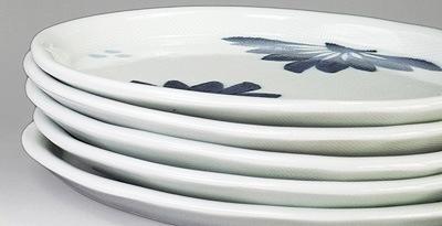 和食器 楕円皿 重ねたところ
