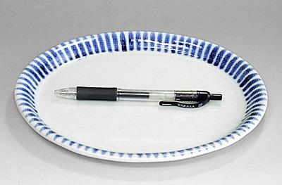 7寸布目楕円皿 21センチ