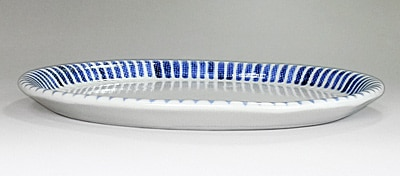 砥部焼 楕円皿