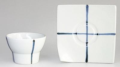砥部焼、永立寺窯のカップ&ソーサー