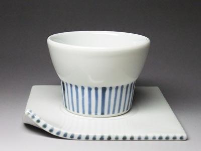 砥部焼・永立寺窯・コーヒーカップ(十草)