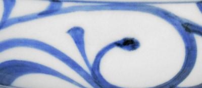 梅山窯 唐草文の浅鉢