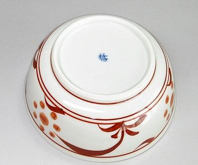 朱太陽文の平鉢