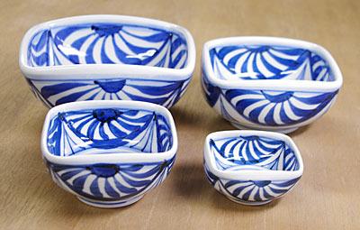 砥部焼き 角鉢 サイズ