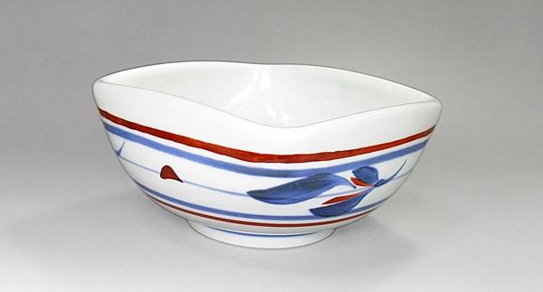 砥部焼き 梅山窯 角鉢
