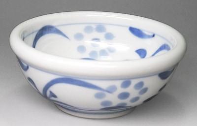 梅山窯 3寸玉縁鉢 内外太陽文