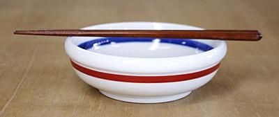 砥部焼 朱線 玉縁鉢