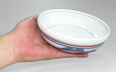 砥部焼 梅山窯 4.8寸玉縁鉢