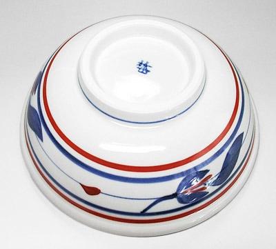 梅山窯 三つ葉文の鉢