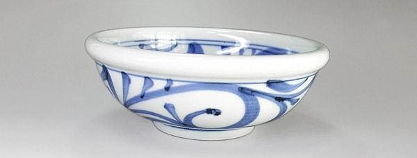 砥部焼 梅山窯 6寸玉縁鉢