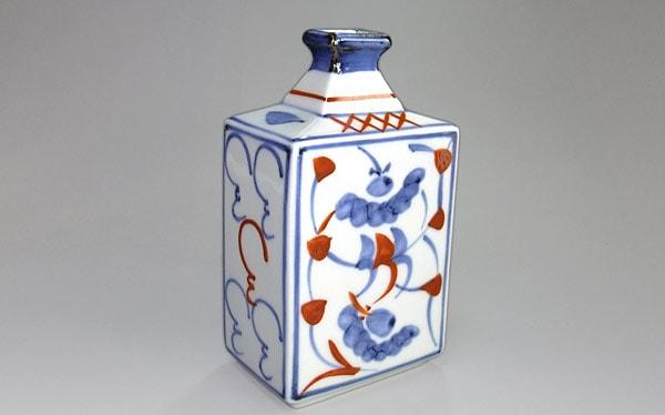 砥部焼 花瓶 角瓶