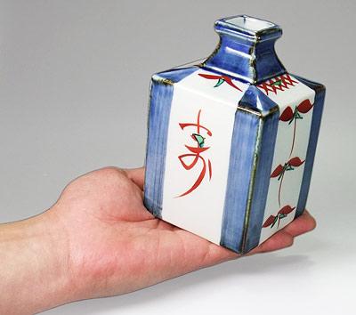 梅山窯 角瓶 持ってみたところ