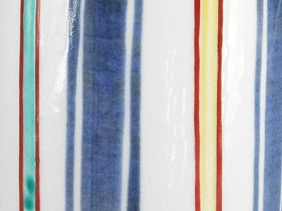 砥部焼 梅山窯 筆筒(大)カラー