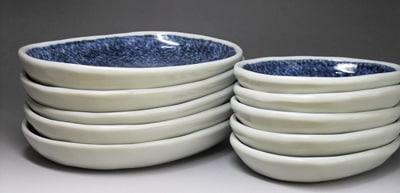 砥部焼、楕円皿