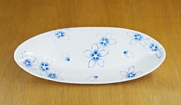 砥部焼き 陶房風 楕円鉢