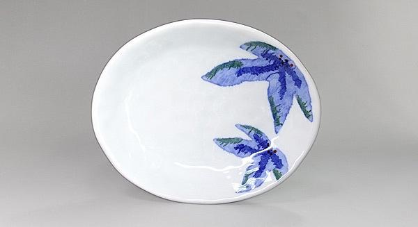 砥部焼 きよし窯 楕円皿