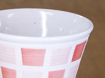 フリーカップ ピンクモザイク