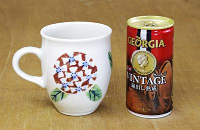 砥部焼 マグカップ 大きさ比較