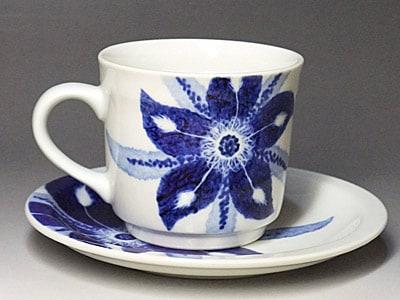 砥部焼、きよし窯のコーヒーカップ