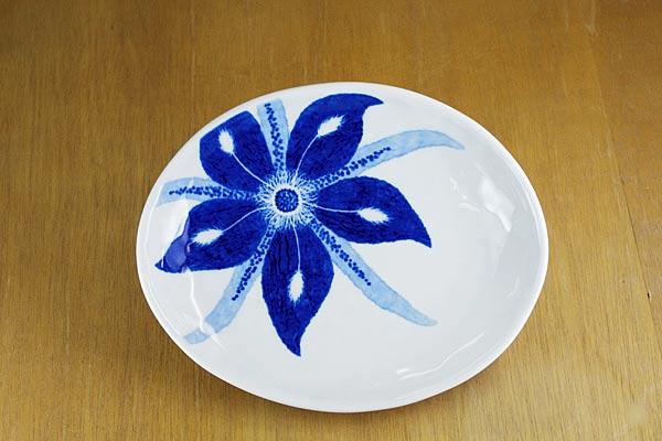 砥部焼き きよし窯 楕円皿