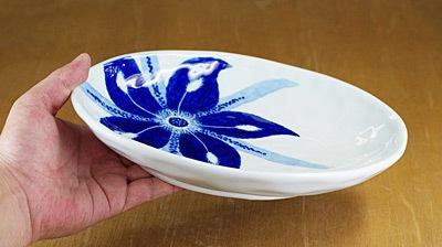 楕円皿 カレー皿 持ったところ