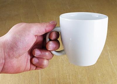 マグカップ 持ったところ