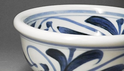 砥部焼、江泉窯の小鉢