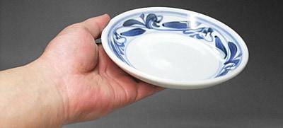 砥部焼 江泉窯 丸皿(小)