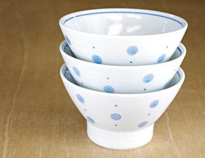 砥部焼き 梅山窯 ごはん茶碗 重なり