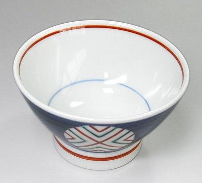 梅山窯 ごはん茶碗 丸抜文