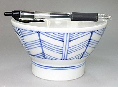 梅山窯 矢羽根 くらわんか茶碗 大きさ比較