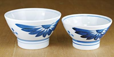 砥部焼き 梅山窯 夫婦茶碗