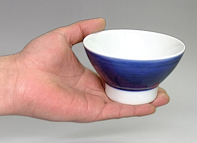 砥部焼き ごはん茶碗 持ったところ