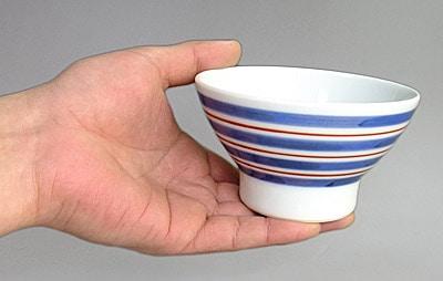 くらわんか茶碗 持ったところ