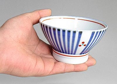 梅山窯 十草三つ文のごはん茶碗