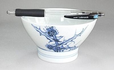 砥部焼き 梅山窯 くらわんか茶碗 アザミ