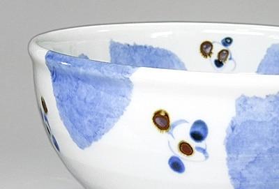 砥部焼き 森陶房 ブルー木の葉