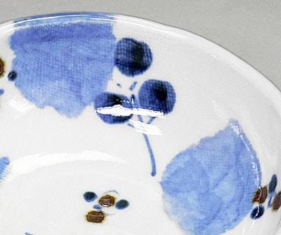 砥部焼 森陶房 ブルー木の葉