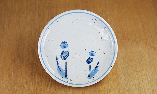 砥部焼き 森陶房 丸皿