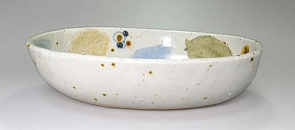 砥部焼 楕円 カレー皿
