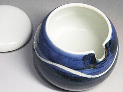 向井窯 蓋付き鉢