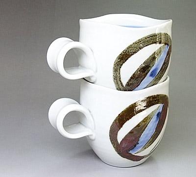 マグカップの重なり