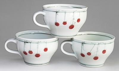砥部焼 中田窯 スープカップ 吊し柿