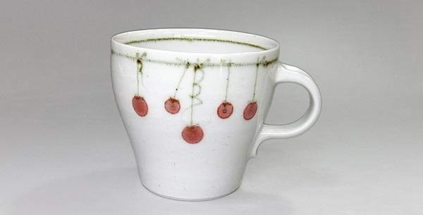 砥部焼 中田窯 マグカップ つるし柿