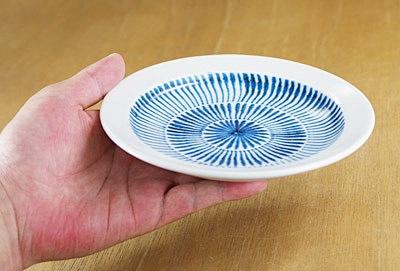 和食器 取り皿 刷毛目 16センチ