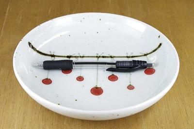 砥部焼 中田窯 6寸丸皿 大きさ比較