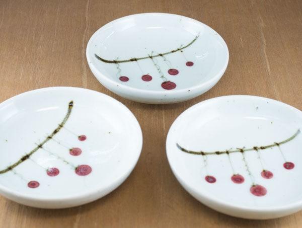 砥部焼き 中田窯 4寸小皿 つるし柿