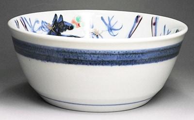 砥部焼、西岡工房の中鉢