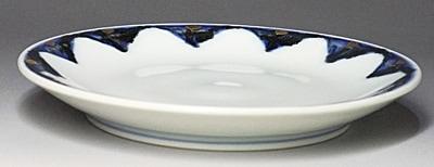 砥部焼、丸皿