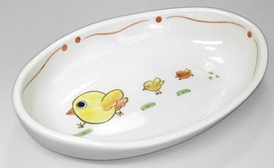 大西陶芸 こども食器 楕円鉢